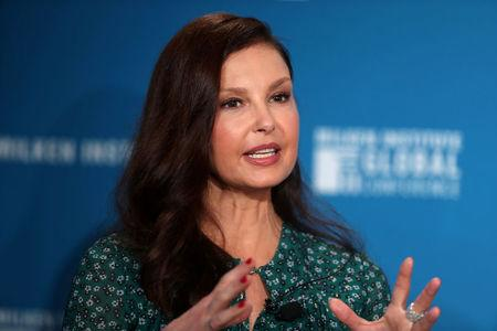 FILE PHOTO: Actress Ashley Judd speaks at the Milken Institute's 21st Global Conference in Beverly Hills