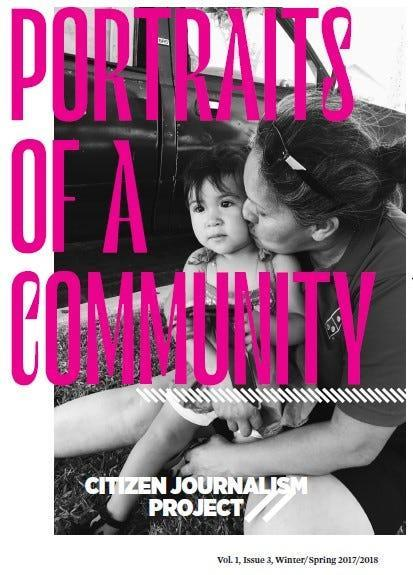 As part of an exhibition centering La Raza, a bilingual publication from the 1970s, the Autry Museum organized the Citizen Journalist Project zine.