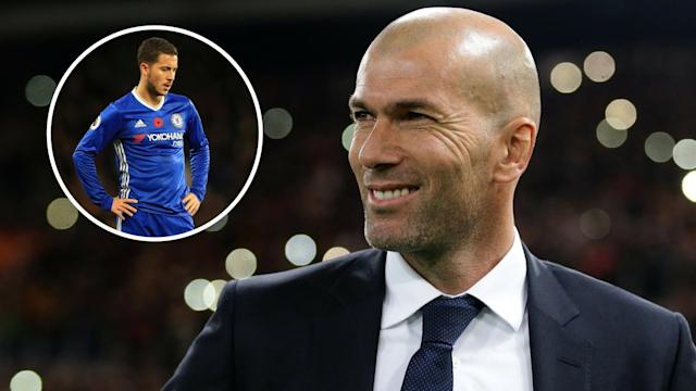 Zinedine Zidane is a big fan of Eden Hazard