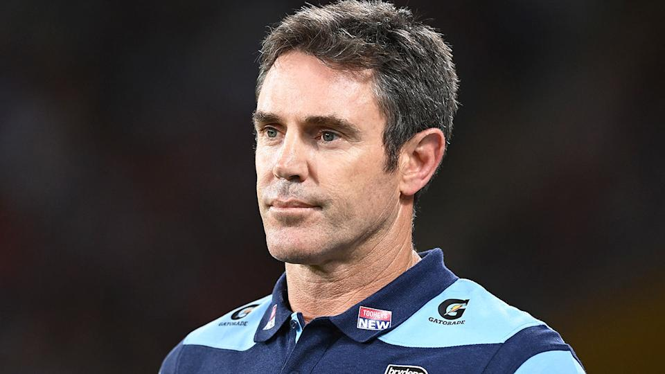 NSW coach Brad Fittler is seen here at State of Origin time in 2020.