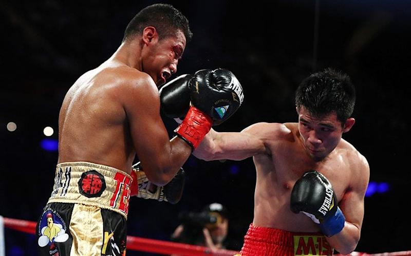 "Thailand's Srisaket Sor Rungvisai, right, stunned previously unbeaten Roman ""Chocolatito"" Gonzalez - Credit: Getty Images"