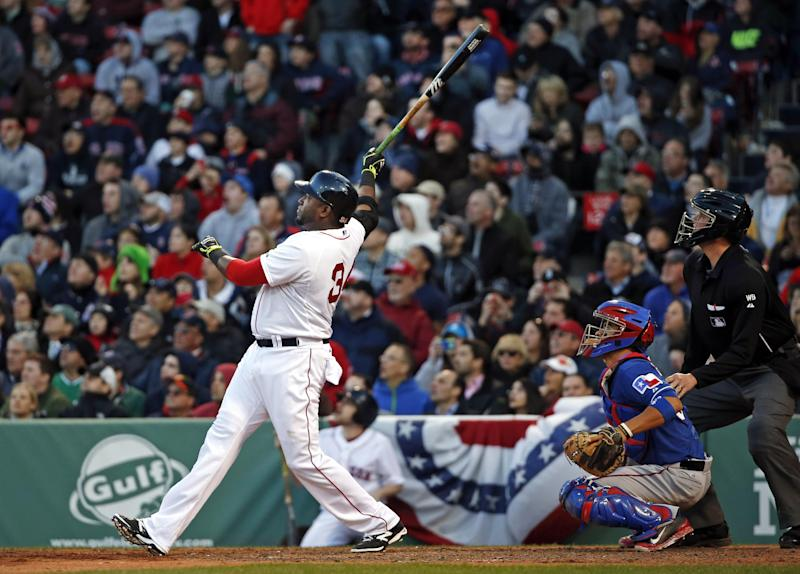 Ortiz homer leads Red Sox to 4-2 win over Rangers