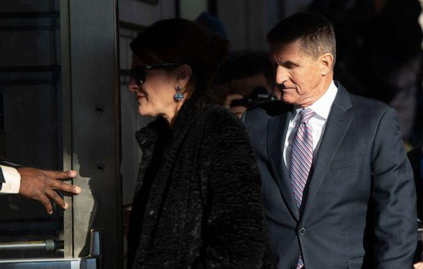 PHOTO: Former National Security Advisor General Michael Flynn arrives for his sentencing hearing at District Court in Washington, DC, Dec. 18, 2018. (Saul Loeb/AFP via Getty Images, FILE)