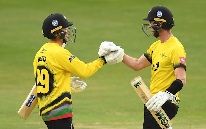 Gloucestershire celebrate reaching the T20 Finals Day - Getty Images
