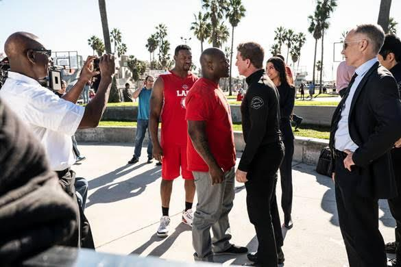 James Harrison on the set of S.W.A.T. (Courtesy)