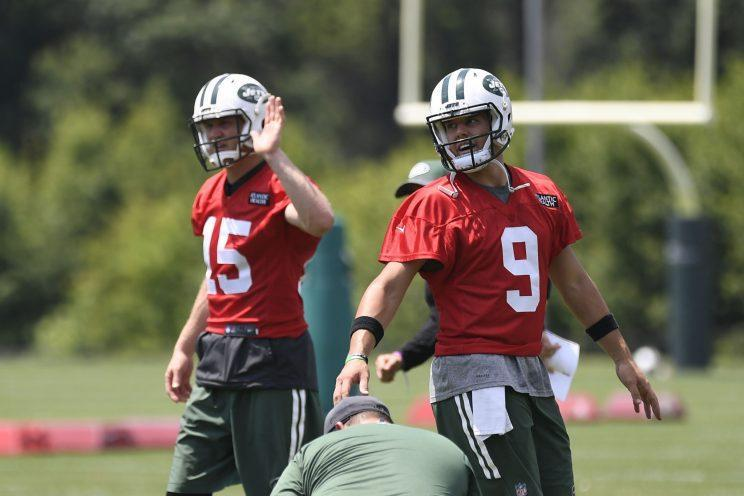 Josh McCown (L) and Bryce Petty (R) are two of the Jets' three options behind center. (Getty)
