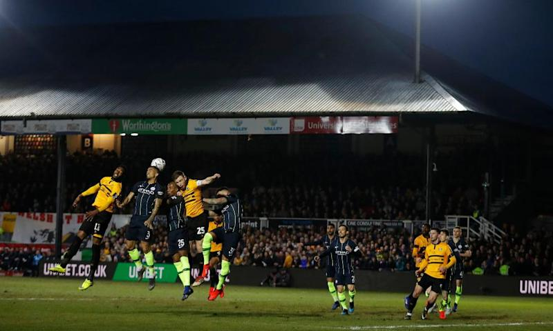 Mark O'Brien led Newport out against Manchester City in the FA Cup fifth round in February 2019.
