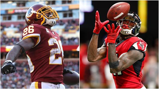 Adrian Peterson surpassed Walter Payton for career touchdowns while Julio Jones broke a record set by the great Jerry Rice.