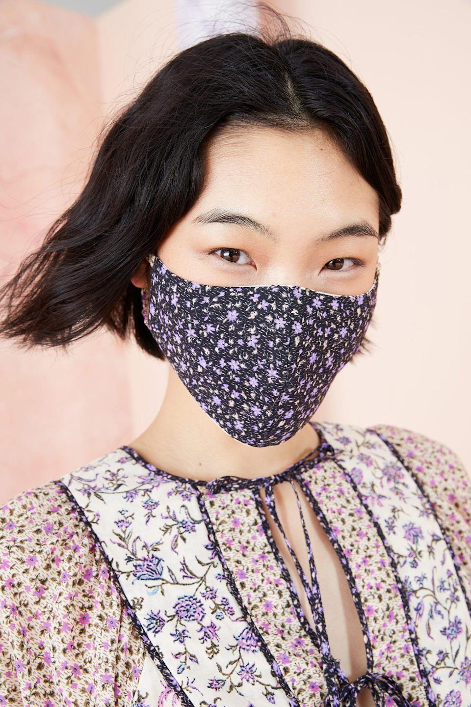 """<p><strong>Ulla Johnson</strong></p><p>ullajohnson.com</p><p><strong>$20.00</strong></p><p><a href=""""https://ullajohnson.com/collections/face-masks/products/face-mask-cream"""" rel=""""nofollow noopener"""" target=""""_blank"""" data-ylk=""""slk:Shop Now"""" class=""""link rapid-noclick-resp"""">Shop Now</a></p><p>For an elevated boho vibe, look to Ulla Johnson's cloth face masks. One hundred percent of the proceeds from each mask will be donated to City Harvest and our neighbors at the Bowery Mission.</p>"""