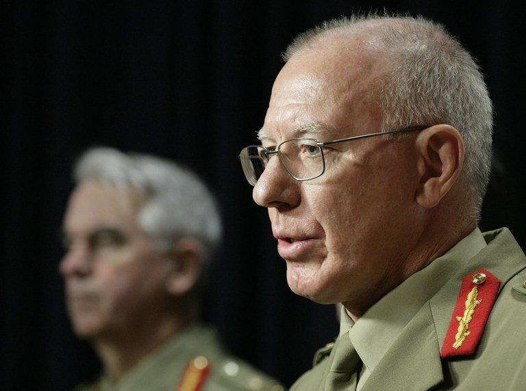 Canberra's defence chief, General David Hurley (R), pictured on June 8, 2010