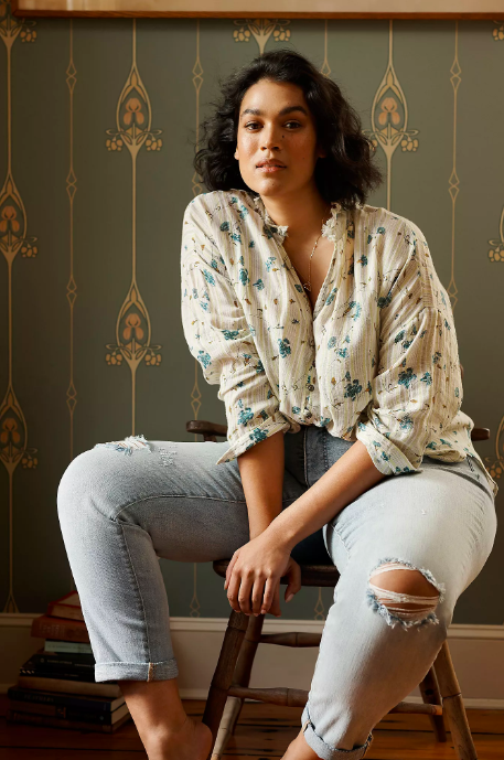 The Tavi Ruffled Buttondown. Image via Anthropologie.