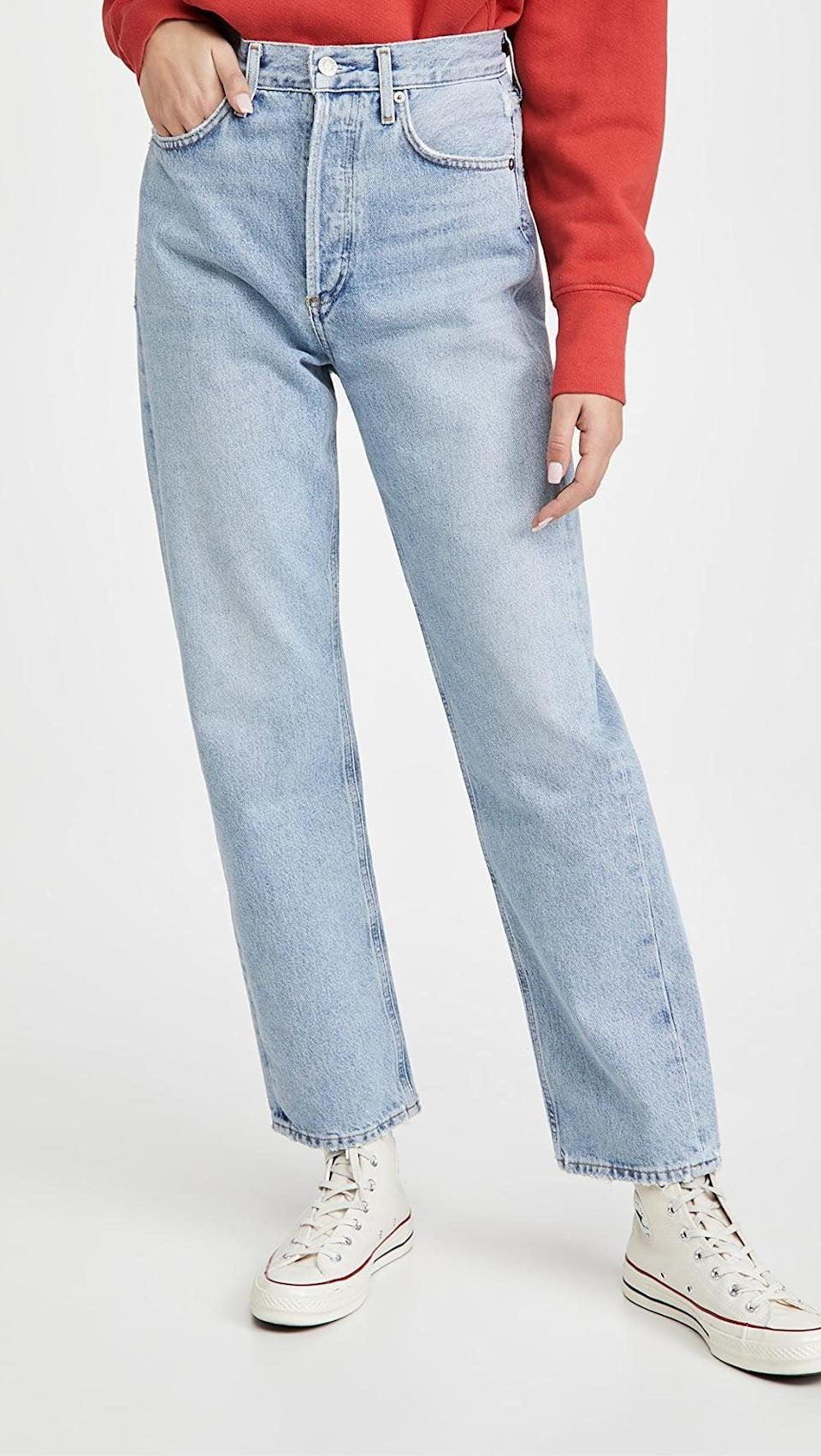 <p>These <span>Agolde 90's Mid Rise Loose Fit Jeans</span> ($198) are a cult-classic that so many people love. If you want a looser fit, these are the ones to get.</p>