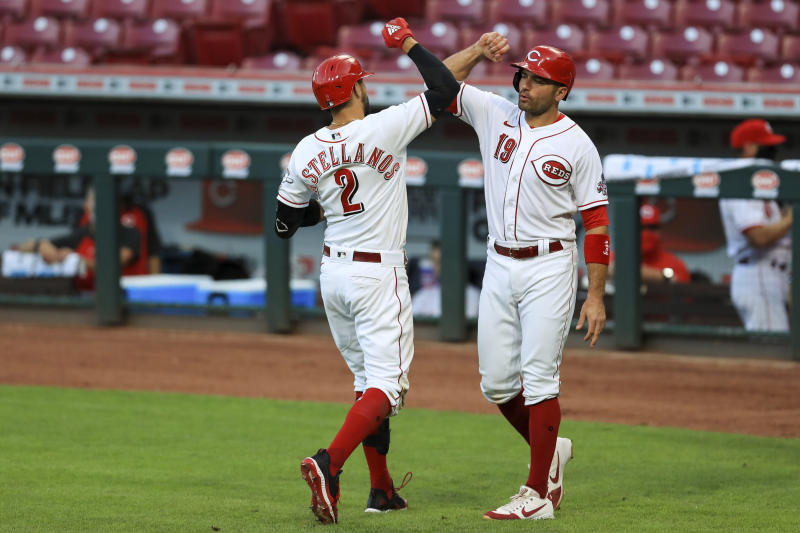 Joey Votto to injured list, Reds activate Desclafani