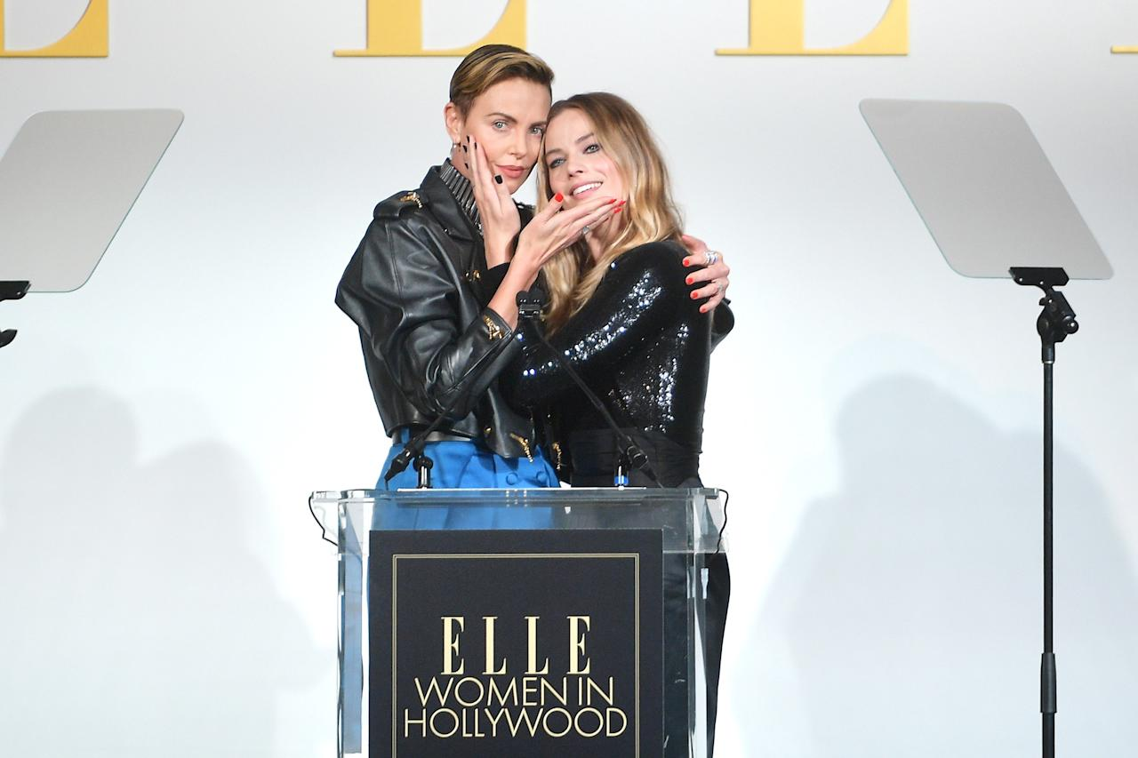 """<strong>""""Margot just impresses the bloody weasels out of me.""""</strong>  — Charlize Theron, on her affection for <a href=""""https://people.com/movies/margot-robbie-created-a-fake-twitter-to-observe-millennial-conservative-girls-for-bombshell/""""><em>Bombshell</em> costar Margot Robbie</a>, to <em>Variety</em>"""