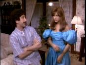 "<p>In a VHS tape flashback, viewers get a peek at Rachel Green's <del>real nose</del> prom dress. The blue puffy sleeved '80s design did not disappoint.</p><p><a class=""link rapid-noclick-resp"" href=""https://www.amazon.com/Friends-The-Complete-First-Season/dp/B000N8GL34?tag=syn-yahoo-20&ascsubtag=%5Bartid%7C10063.g.36197518%5Bsrc%7Cyahoo-us"" rel=""nofollow noopener"" target=""_blank"" data-ylk=""slk:STREAM NOW"">STREAM NOW</a></p>"
