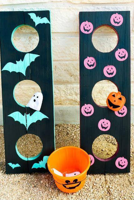 """<p>This year, you have all day to celebrate Halloween — which means you might want to plan some structured activities. A fun bean-bag or ring toss, or a game of <a href=""""https://www.goodhousekeeping.com/holidays/halloween-ideas/a35150/halloween-facts/"""" rel=""""nofollow noopener"""" target=""""_blank"""" data-ylk=""""slk:trivia"""" class=""""link rapid-noclick-resp"""">trivia</a> or charades is sure to be a hit.</p><p><em><a href=""""https://akailochiclife.com/2015/10/diy-it-halloween-bean-bag-toss.html"""" rel=""""nofollow noopener"""" target=""""_blank"""" data-ylk=""""slk:Get the tutorial at A Kailo Chic Life »"""" class=""""link rapid-noclick-resp"""">Get the tutorial at A Kailo Chic Life »</a></em></p><p><strong>RELATED:</strong> <a href=""""https://www.goodhousekeeping.com/holidays/halloween-ideas/g28340854/adult-halloween-party-games/"""" rel=""""nofollow noopener"""" target=""""_blank"""" data-ylk=""""slk:28 Halloween Games for Adults to Get the Party Started"""" class=""""link rapid-noclick-resp"""">28 Halloween Games for Adults to Get the Party Started</a></p>"""
