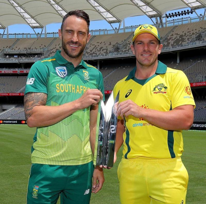 Faf du Plessis and Aaron Finch