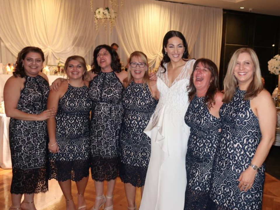 Imagine being one of the six women who turned up to a wedding in the dress [Photo: Facebook/Debbie Speranza]