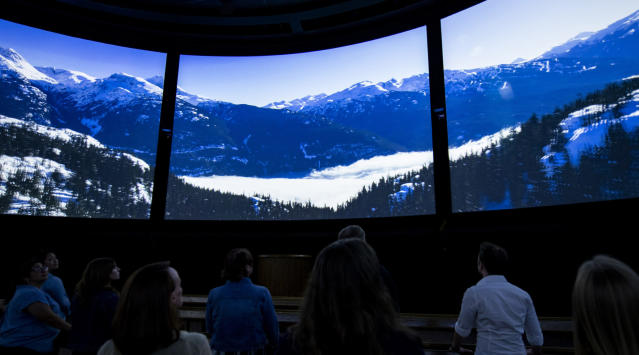 """Canada Far and Wide in Circle-Vision 360"" debuts Jan. 17, 2020, in the Canada pavilion at Epcot at Walt Disney World Resort in Lake Buena Vista, Fla. The new film celebrates Canada with picturesque scenes from across the country, displayed in 360 degrees. (Disney)"