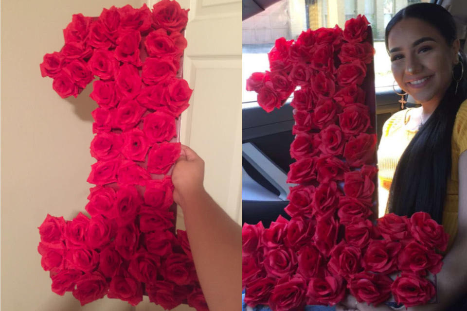One teen got creative with his anniversary gift to his girlfriend. (Photo: Twitter/trillmexican_)