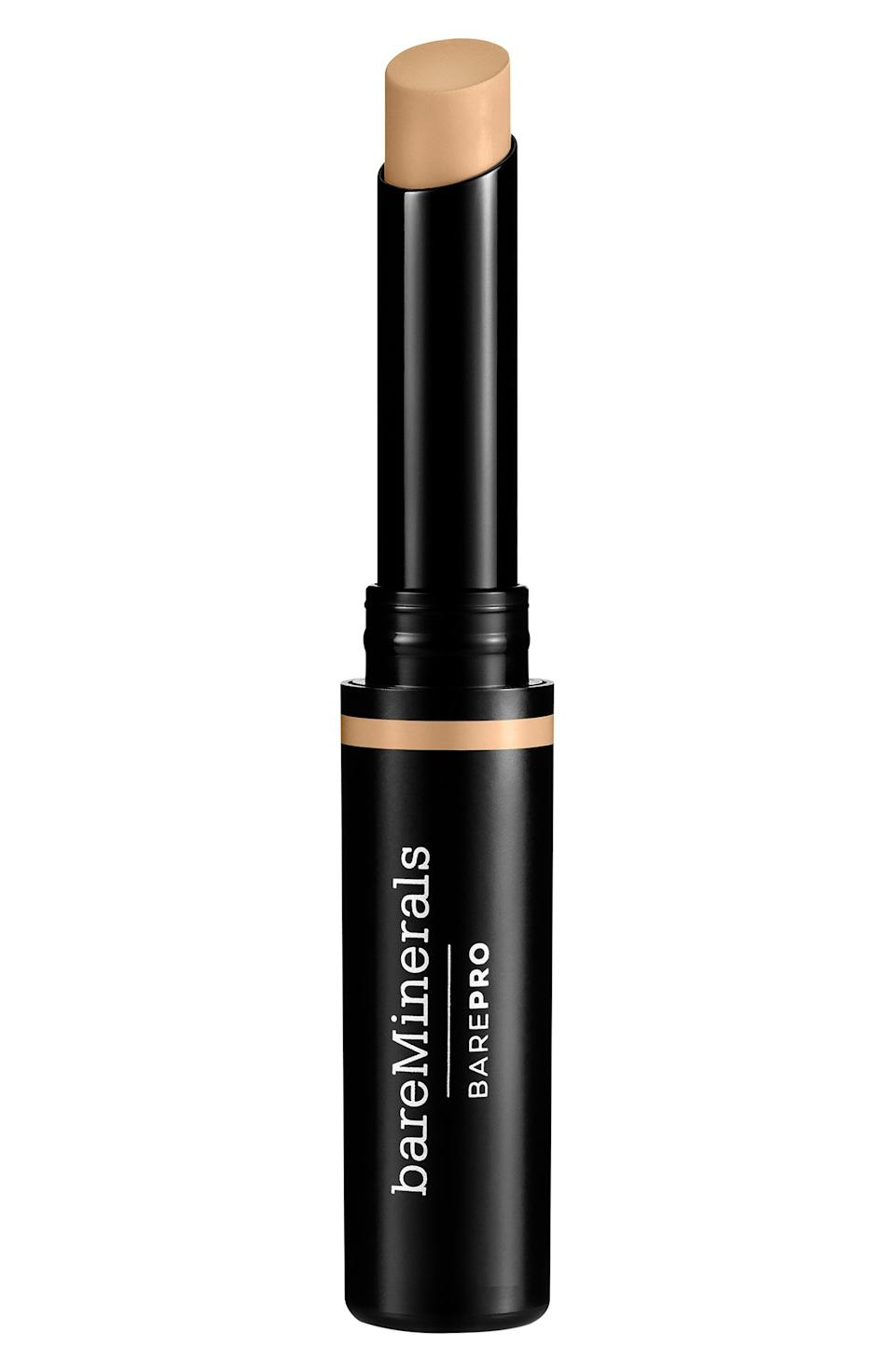 """<p><strong>BAREMINERALS</strong></p><p>nordstrom.com</p><p><strong>$25.00</strong></p><p><a href=""""https://go.redirectingat.com?id=74968X1596630&url=https%3A%2F%2Fwww.nordstrom.com%2Fs%2Fbareminerals-barepro-stick-concealer%2F4882249&sref=https%3A%2F%2Fwww.thepioneerwoman.com%2Fbeauty%2Fskin-makeup-nails%2Fg36563969%2Fbest-concealers-for-mature-skin%2F"""" rel=""""nofollow noopener"""" target=""""_blank"""" data-ylk=""""slk:Shop Now"""" class=""""link rapid-noclick-resp"""">Shop Now</a></p><p>This stick concealer is sold in nine shades and is designed to stay put all day long. In a one-week U.S. study of 95 women, 97% agreed this concealer wears comfortably throughout the day.</p>"""