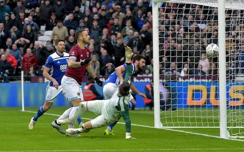 <span>Arnautovic's goals have been vital to West Ham this season, including the opener in the FA Cup win over Birmingham</span> <span>Credit: GETTY IMAGES </span>