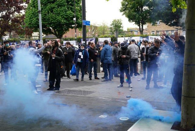 Tottenham fans protested against Daniel Levy at the end of last season