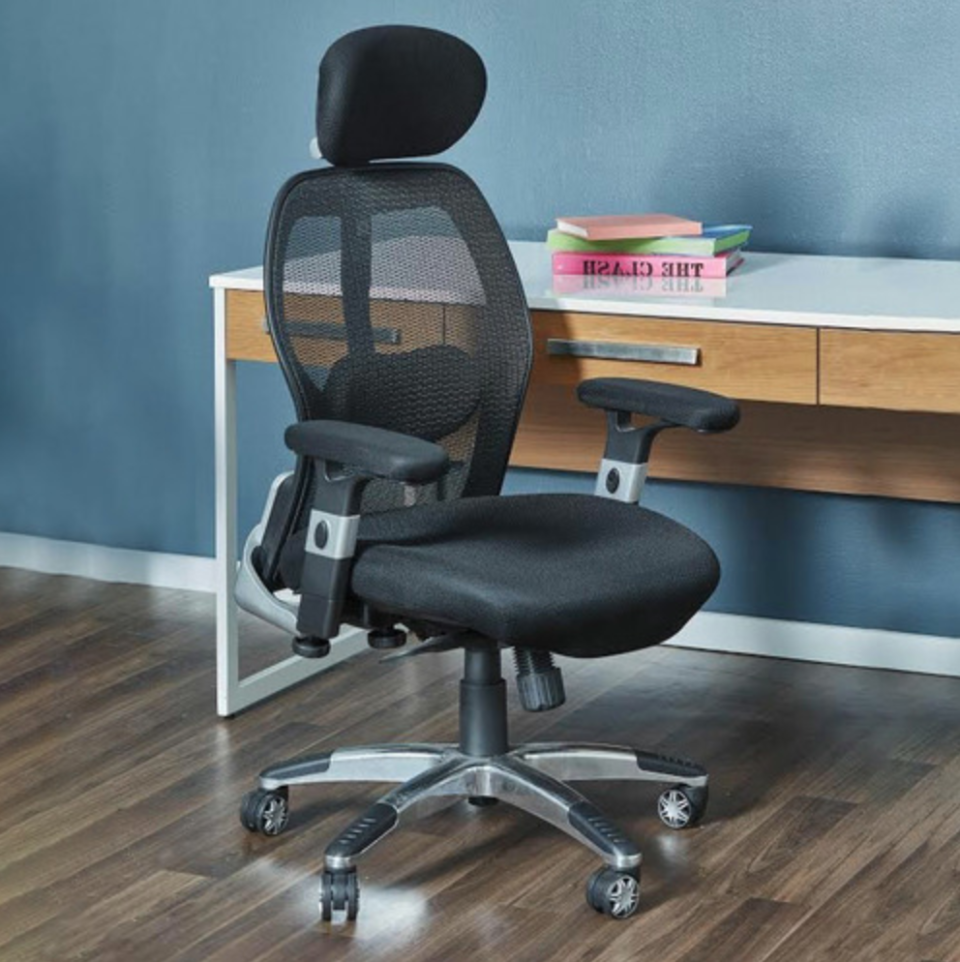 mesh chair with a headrest from Temple & Webster