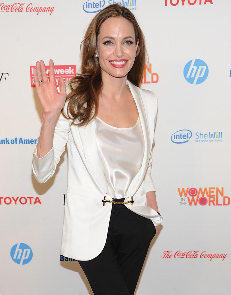 NEW YORK, NY - MARCH 08:  Actress Angelina Jolie attends the 3rd Annual Women in the World Summit at David H. Koch Theater, Lincoln Center on March 8, 2012 in New York City.  (Photo by Jason Kempin/Getty Images)