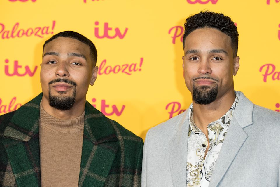 LONDON, ENGLAND - OCTOBER 16:  (L-R) Jordan Banjo and Ashley Banjo attend the ITV Palooza! held at The Royal Festival Hall on October 16, 2018 in London, England.  (Photo by Jeff Spicer/WireImage)