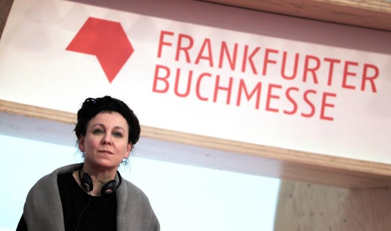 """Nobel Literature Prize winner Olga Tokarczuk warned of """"a kind of culture war"""" raging in Poland  between the right-wing government and the opposition"""