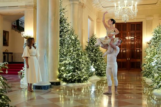 See How Melania Trump Decorated The White House For Christmas