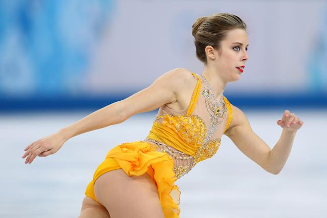 SOCHI, RUSSIA - FEBRUARY 20: Ashley Wagner of the United States competes in the Figure Skating Ladies' Free Skating on day 13 of the Sochi 2014 Winter Olympics at Iceberg Skating Palace on February 20, 2014 in Sochi, Russia. (Photo by Matthew Stockman/Getty Images)