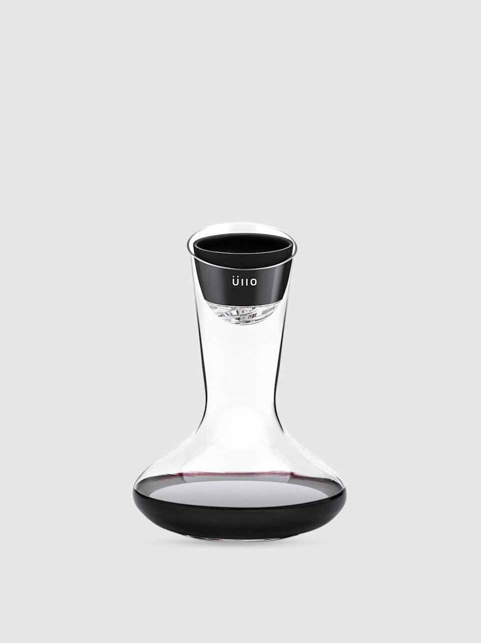 """<h2>Üllo Wine Purifier & Decanter</h2><br>If she's real fancy-schmancy (and doesn't already own such a premium device), really wow her with Üllo's hand-blown glass decanter that pours a purified glass of sulfate-free, aroma-rich, and opened up wine — like she's dining at a 5-star restaurant, with 5-star sommelier bottle service. <br><br><em>Shop <strong><a href=""""https://www.verishop.com/brand/ullo"""" rel=""""nofollow noopener"""" target=""""_blank"""" data-ylk=""""slk:Üllo"""" class=""""link rapid-noclick-resp"""">Üllo</a></strong></em><br><br><strong>Üllo</strong> Üllo Wine Purifier + Decanter, $, available at <a href=""""https://go.skimresources.com/?id=30283X879131&url=https%3A%2F%2Fwww.verishop.com%2Fullo%2Fmarketplace%2Fullo-wine-purifier-decanter%2Fp6251881693378%3Fvariant_id%3D38286853013698"""" rel=""""nofollow noopener"""" target=""""_blank"""" data-ylk=""""slk:Verishop"""" class=""""link rapid-noclick-resp"""">Verishop</a>"""