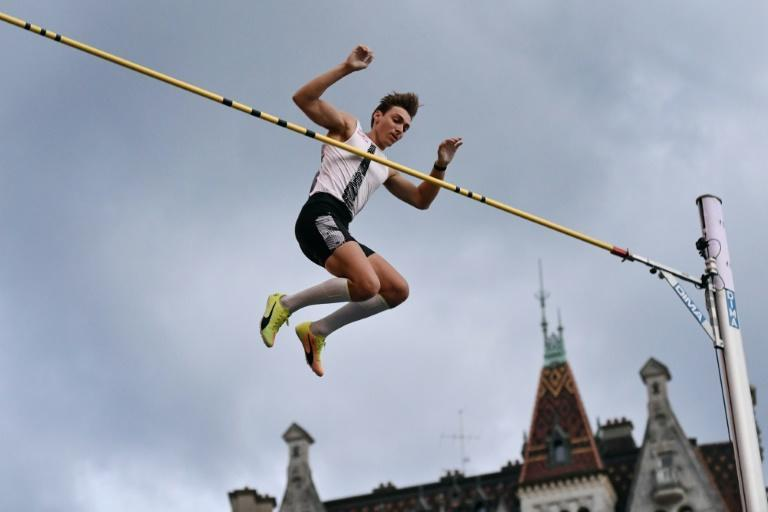 Up and over: Armand Duplantis in action on Wednesday