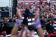 US President Donald Trump drew another big crowd in Florida