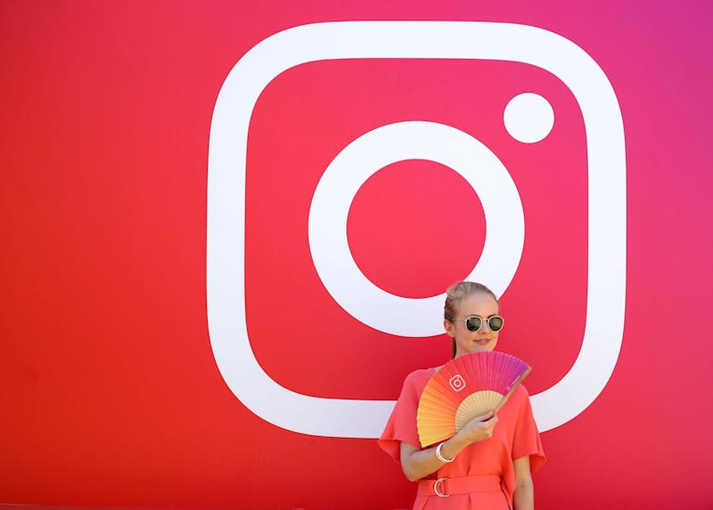 A visitor stands in front of the Instagram stand during day two of Dubai Lynx 2019: Francois Nel/Getty Images