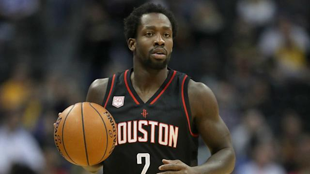 Beverley ran headlong into Adams, but ended up getting the last laugh with a 3-point floater.