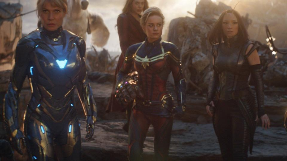 Captain Marvel, centre (Credit: Disney)