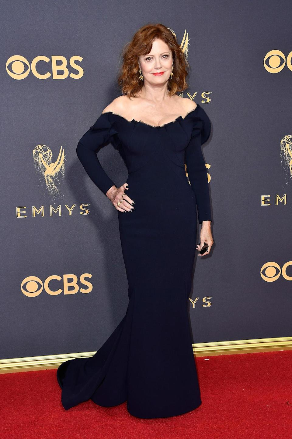 <p>Susan Sarandon attends the 69th Annual Primetime Emmy Awards on September 17, 2017.<br> (Photo: Getty Images) </p>