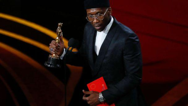 PHOTO: Mahershala Ali accepts the best supporting actor award for his role in 'Green Book,' Feb. 24, 2019, at the 91st Academy Awards. (Mike Blake/Reuters)