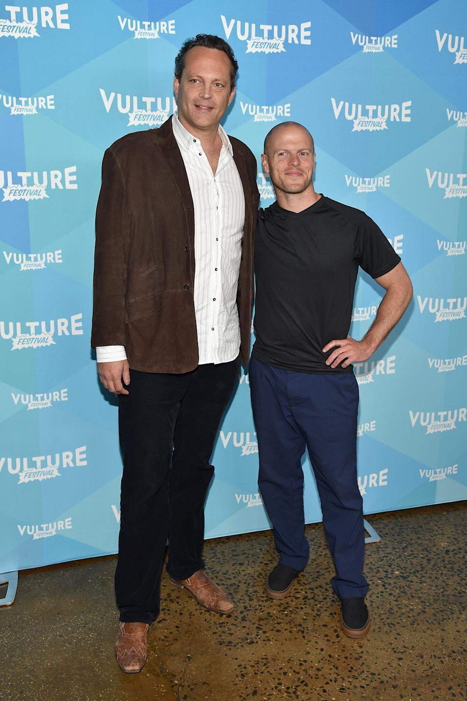 NEW YORK, NY - MAY 20:  Actor Vince Vaughn (L) and author Timothy Ferriss attend Tim Ferriss and Vince Vaughn: In Conversation at the 2017 Vulture Festival at Milk Studios on May 20, 2017 in New York City.  (Photo by Bryan Bedder/Getty Images for Vulture Festival)