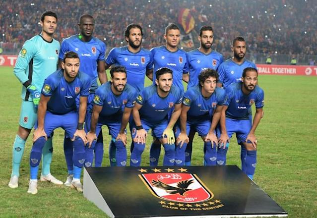 Al Ahly of Egypt hammered Atlabara of South Sudan 9-0 Friday to equal the record aggregate winning margin for a CAF Champions League tie (AFP Photo/FETHI BELAID)