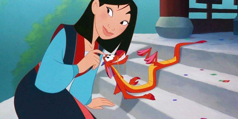Mulan and Mushu in Disney's 'Mulan' (1998)