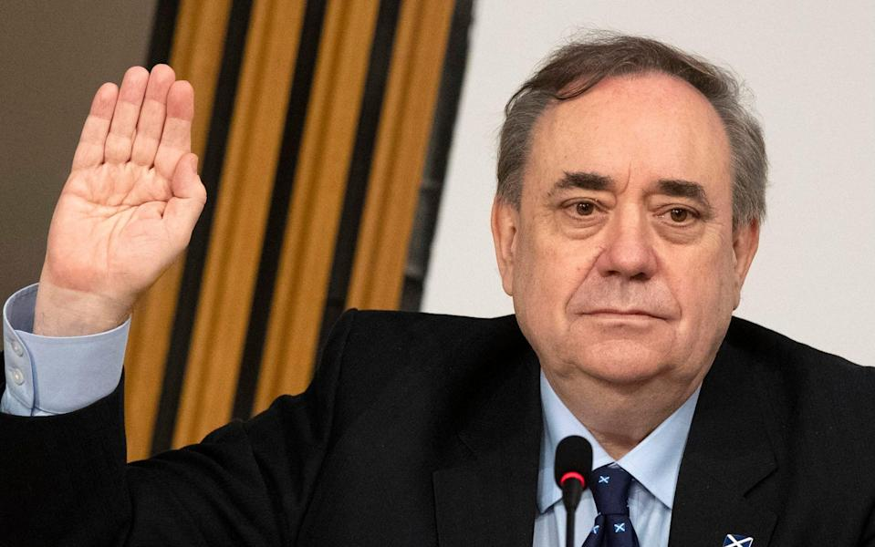 Alex Salmond gave evidence to the Holyrood inquiry last week - PA