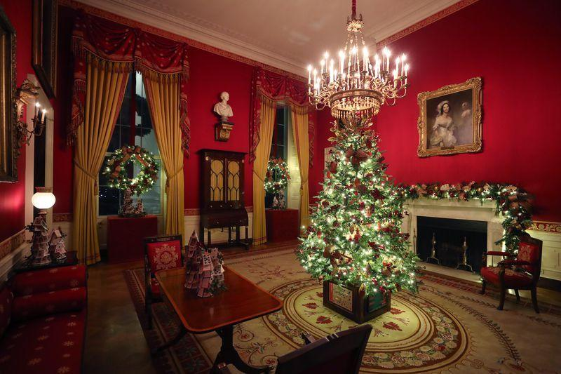 The official 2019 White House Christmas Decor, designed by First Lady Melania Trump.