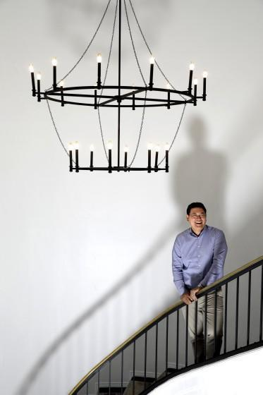 HOLLYWOOD, CA - JULY 2, 2021 - - STAIRWAY TO SUCCESS - - Jeongin Hong, senior vice president of JTBC Studios, a South Korean production company, at wiip Media Company in Hollywood on July 2, 2021. JTBC Studios recently increased its stake in U.S. production company wiip by buying shares from Century City talent agency Creative Artists Agency. JTBC Studios is a division of JTBC, owned by JoongAng Group. The group also operates daily newspaper Joongang Daily with an office in Koreatown. JTBC Studios' plans to expand its presence in the U.S. by becoming a larger owner of wiip. (Genaro Molina / Los Angeles Times)