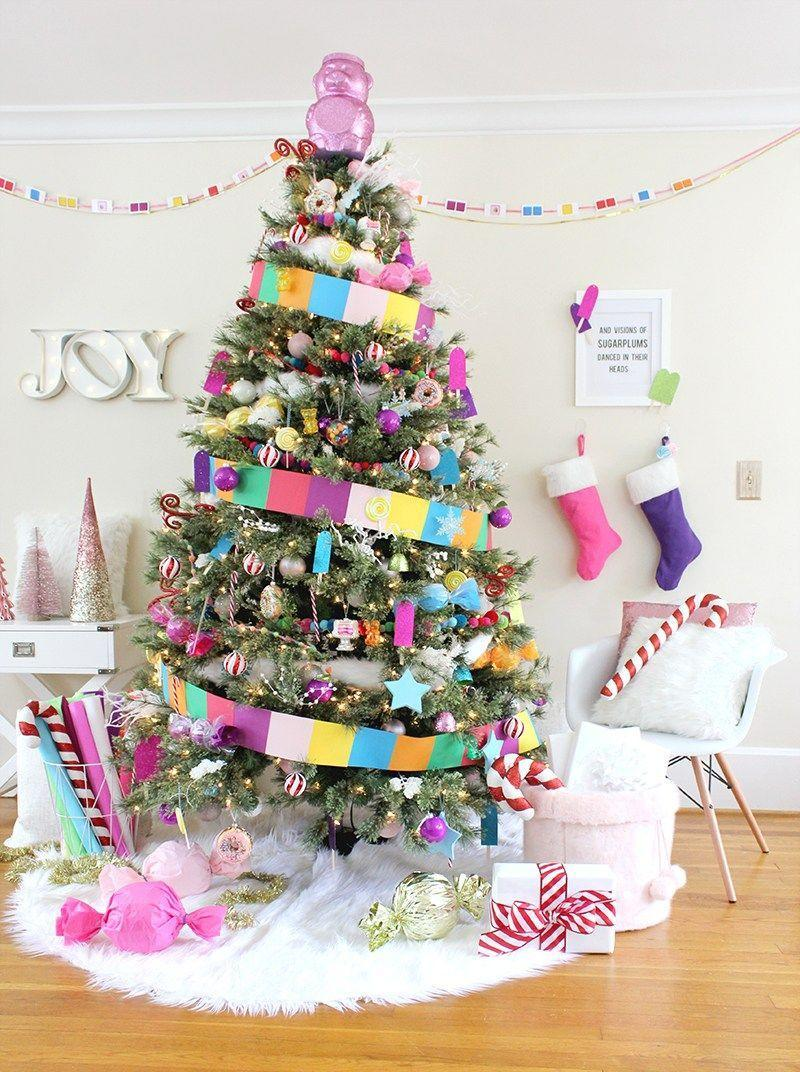 """<p>If you're up for a big DIY project for your tree this year, look no further. Almost every ornament on this Christmas tree was made by hand from things you may have lying around the house.</p><p><strong><em>Get the tutorial at <a href=""""http://www.linesacross.com/2016/11/candy-land-christmas-tree.html/"""" rel=""""nofollow noopener"""" target=""""_blank"""" data-ylk=""""slk:Lines Across"""" class=""""link rapid-noclick-resp"""">Lines Across</a>.</em></strong></p><p><a class=""""link rapid-noclick-resp"""" href=""""https://www.amazon.com/ALIMITOPIA-Christmas-Shatterproof-Assorted-Decoration/dp/B074KWSS53/?tag=syn-yahoo-20&ascsubtag=%5Bartid%7C10070.g.2025%5Bsrc%7Cyahoo-us"""" rel=""""nofollow noopener"""" target=""""_blank"""" data-ylk=""""slk:BUY ASSORTED ORNAMENTS"""">BUY ASSORTED ORNAMENTS</a></p>"""