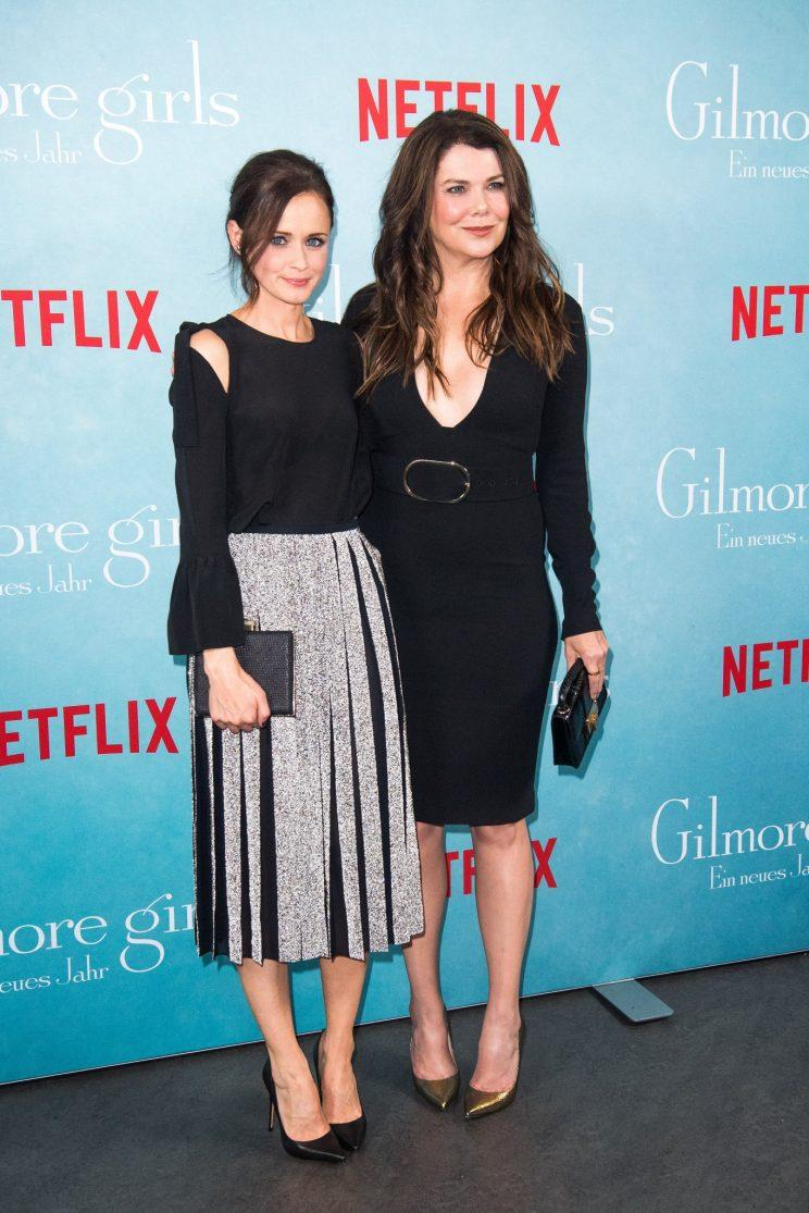 Alexis Bledel and Lauren Graham attended a fan event in Berlin, Germany, on Thursday. (Photo: Getty Images)