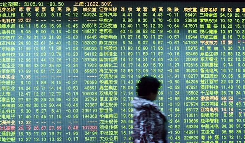 China's Stocks Drop to Lowest Level in Nearly Four Years